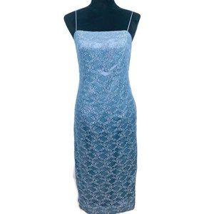 Alex Evenings Blue Lace Dress